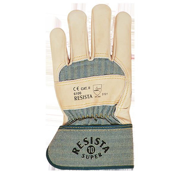 gants de protection en cuir resista super 6100 safety pro. Black Bedroom Furniture Sets. Home Design Ideas