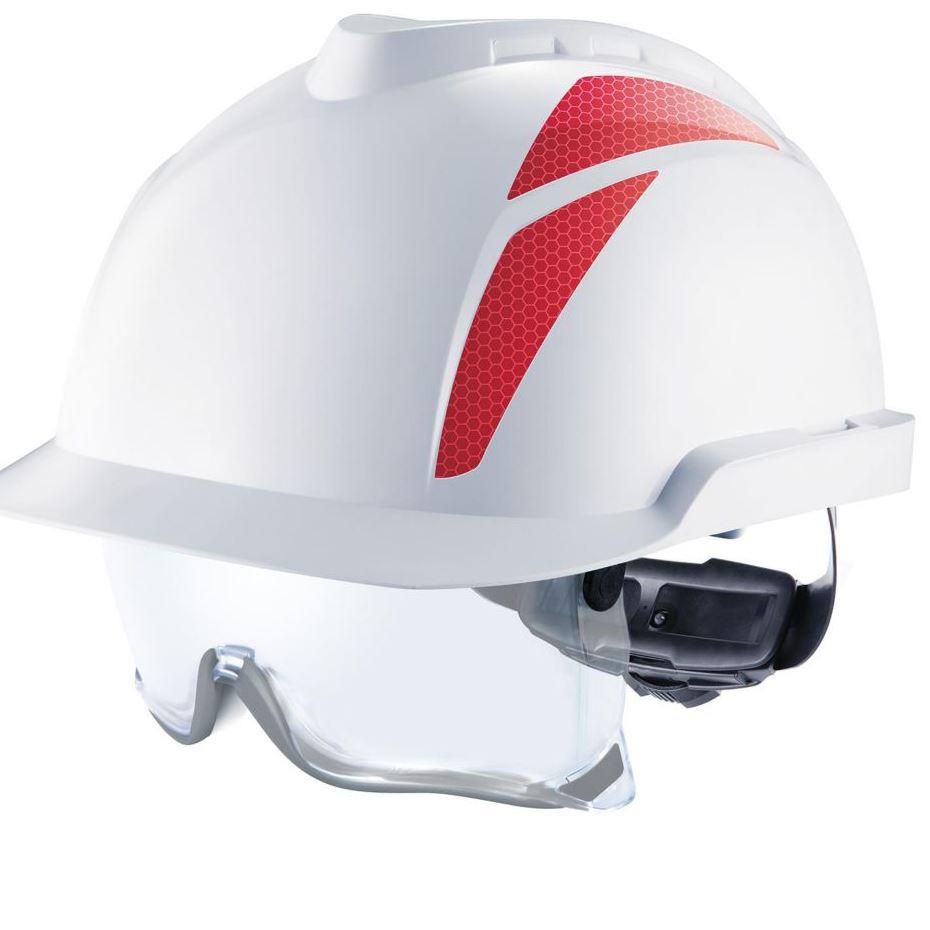 msa bandes r fl chissantes rouges fix es au casque v gard 900 930 msa accessoires de casque. Black Bedroom Furniture Sets. Home Design Ideas