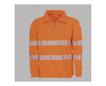 Warnschutz-Sweatshirt BIOACTIVE REFLEX EN 20471, CE orange