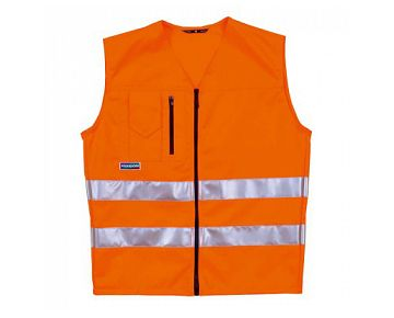 Gilets de sécurité AVERTO orange vif EN 20471, CE