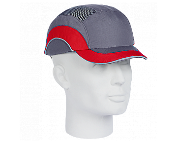 Casquette protectrice HARD CAP A1+ grise/rouge